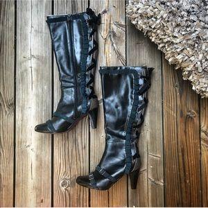 BOBBI BLU Rare shoes halter boots leather 8.5 heel